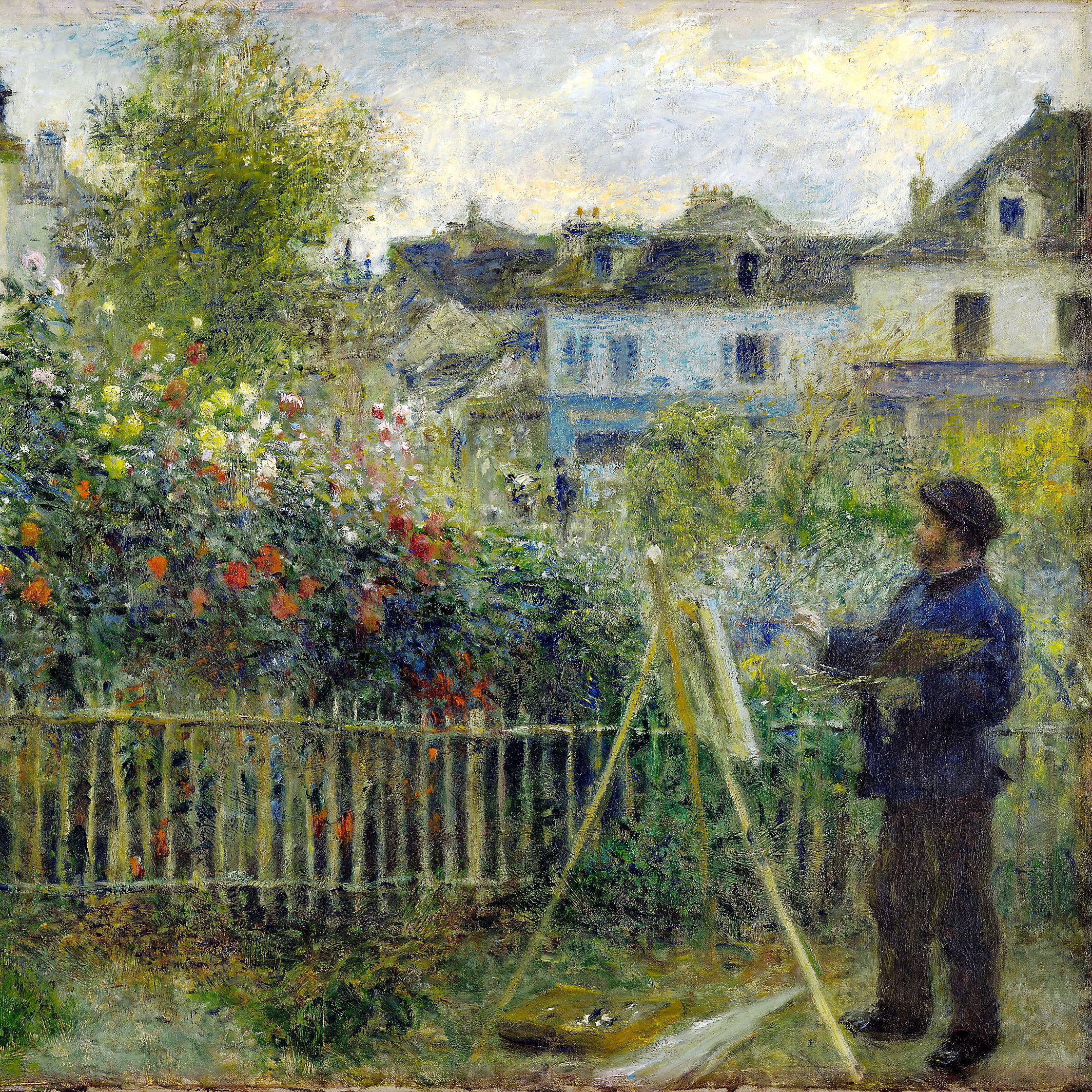 Monet Claude Monet Painting in His Garden at Argenteuil